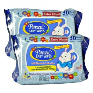 PUREEN Baby Wipes (Fragrance) TWIN PACK  30's x 2
